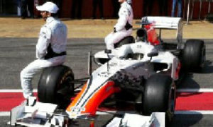 F1 car-shaped object unveiled