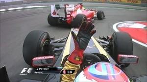 Felipe Massa gesticulating