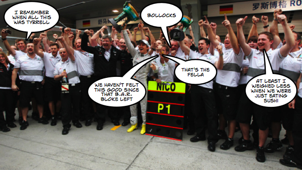 Mercedes GP make history