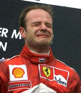 Rubens Barrichello Crying Hockenheim 2000