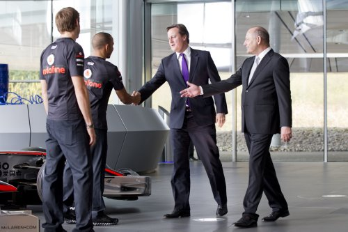 David Cameron Jenson Button Lewis Hamilton