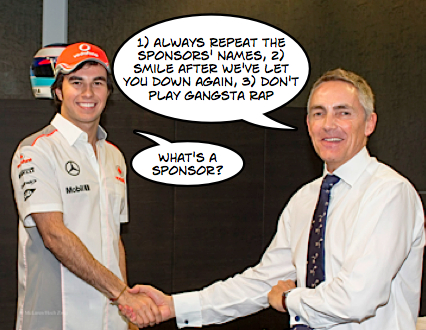 Perez learns The Mclaren Way