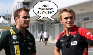 F1 2013 pecking order confusion