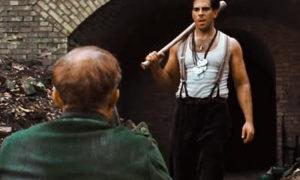Man with big hammer volunteers Ecclestone human rights demonstration