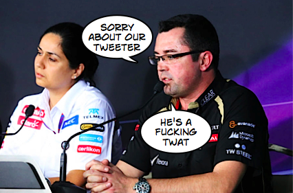 F1 - 2013 - eric boullier lotus apology