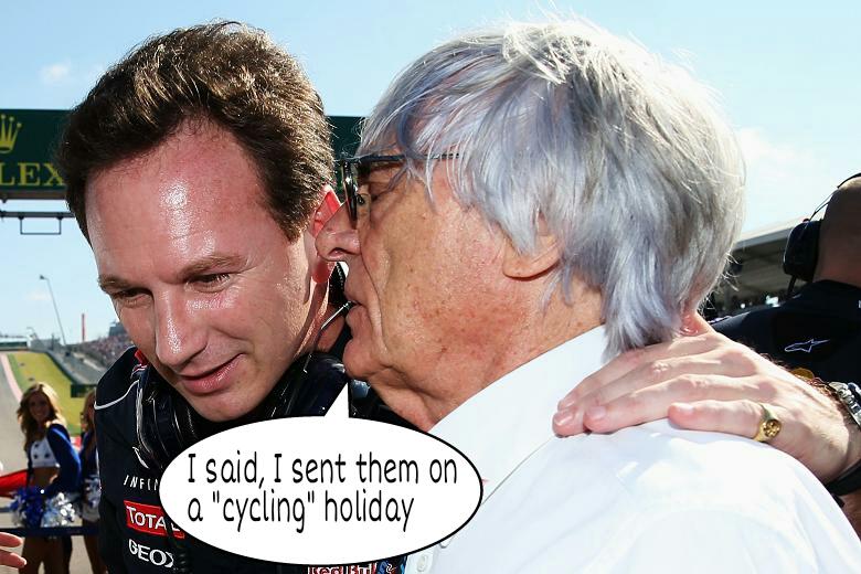 F1 - 2014 - Christian Horner, Bernie Ecclestone