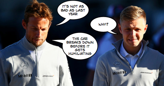 Alonso absence rekindling Button, Magnussen Mclaren memories