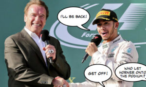 Terminator impressionist ruins Australian grand prix