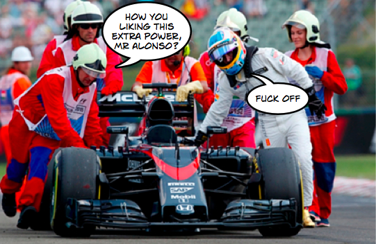 Fernando Alonso - Mclaren Honda - Hungarian Grand Prix 2015