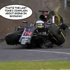 Fernando Alonso crash Melbourne 2016