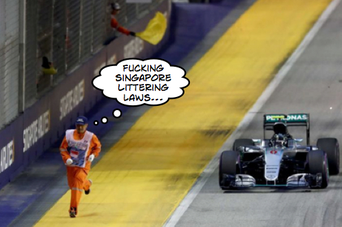 Arrivabene discarded fag clean up creates Singapore start chaos