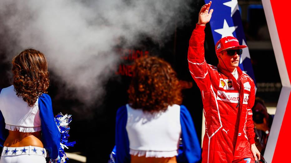 Kimi Raikkonen emergest at the 2017 US Grand Prix intro