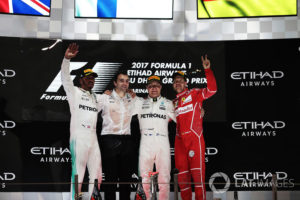 2017 Abu Dhabi Grand Prix podium
