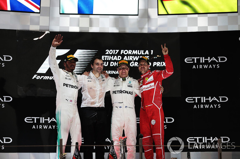 2017 Abu Dhabi Grand Prix podium