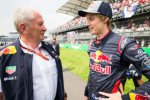 Helmut Marko with Brendon Hartley, Toro Rosso