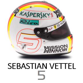 Sebastian Vettel Helmet - 2019