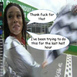 Bored celebrity attempts F1 race curtailment