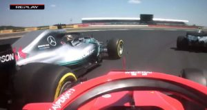 Kimi Raikkonen hits Lewis Hamilton Silverstone 2018