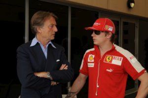 Kimi Raikkonen talks to Luca di Montezemolo, Ferrari 2008