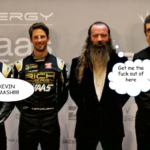 Crazy character attends Haas livery launch