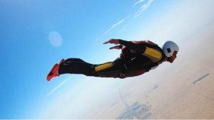 Lewis Hamilton skydiving