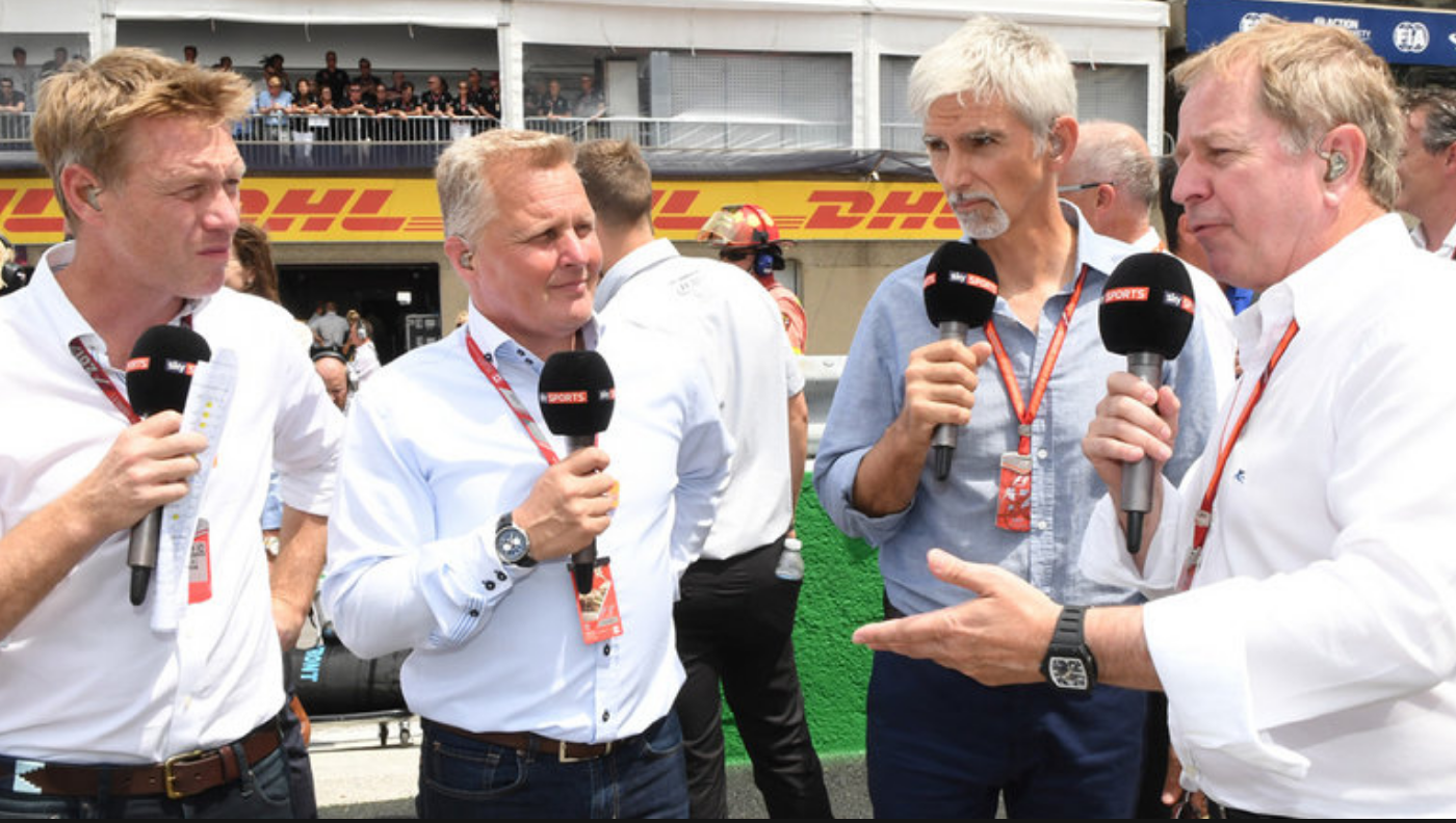 F1 experts: Brundle, Hill, Lazenby, Herbert. Sky Sports F1