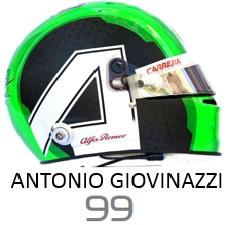 Antonio Giovinazzi 2019 Helmet