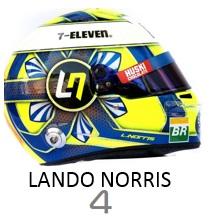 Lando Norris 2019 helmet