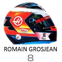 Romain Grosjean 2019 Helmet