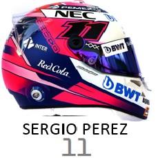 Sergio Perez 2019 helmet