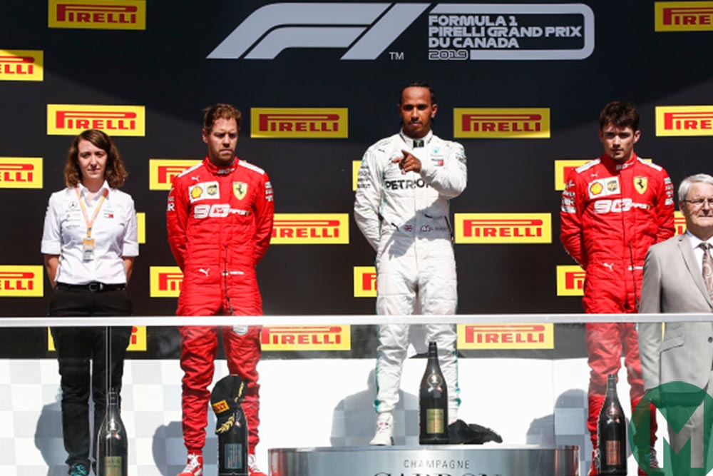 2019 Canadian Grand Prix podium
