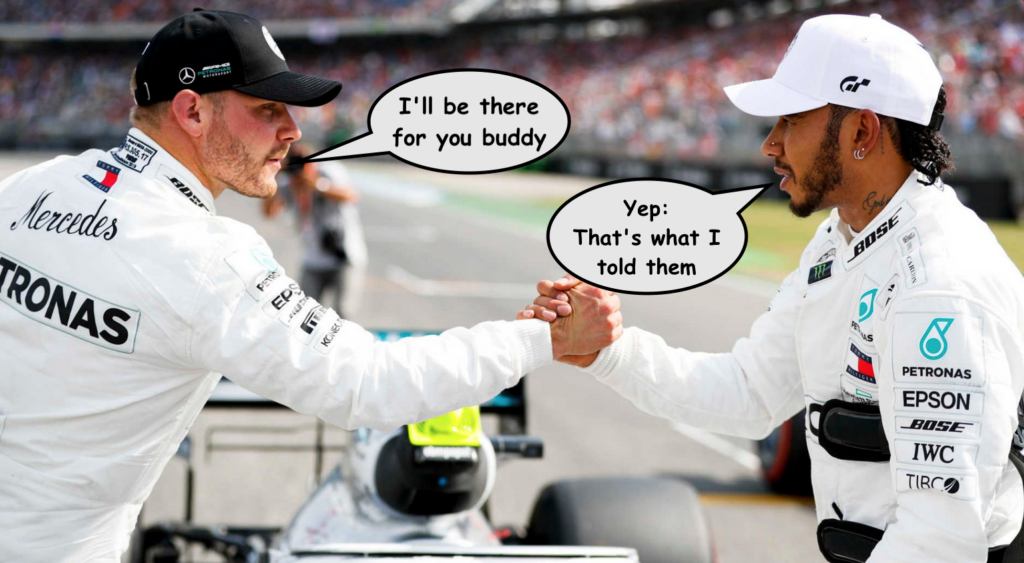 Bottas re-signed by Mercedes GP to drive alongside Lewis Hamilton in 2020