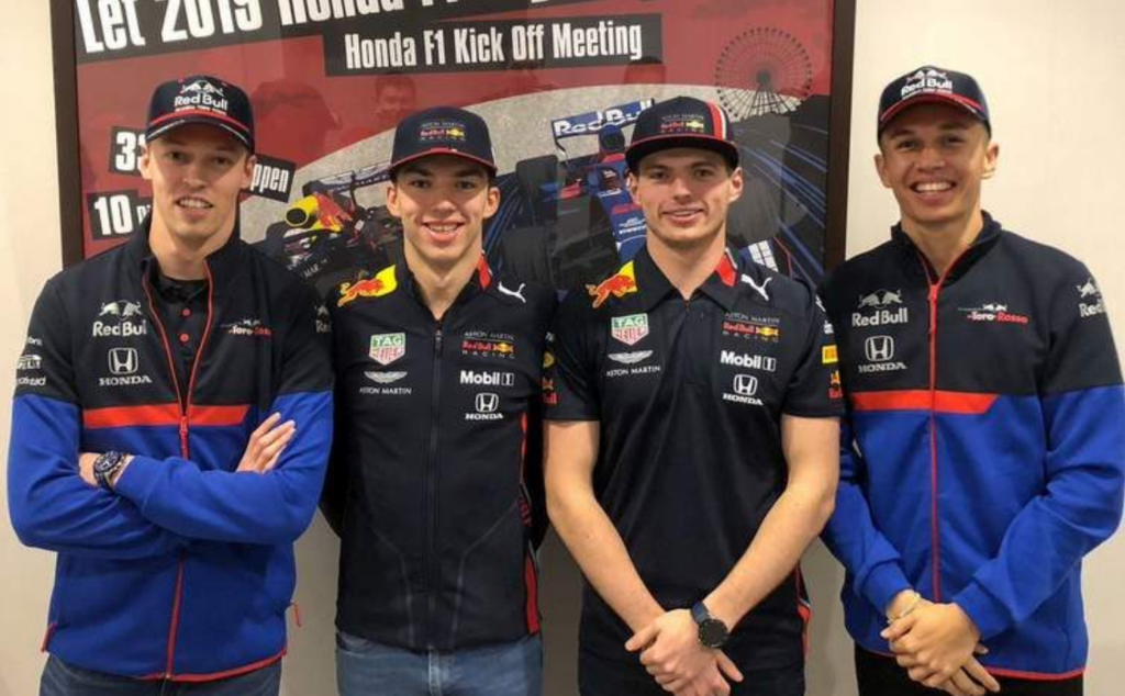 Red Bull F1 driver roster 2019
