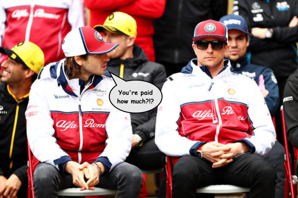 Kimi Raikkonen and Giovinazzi Alfa Romeo F1 2020
