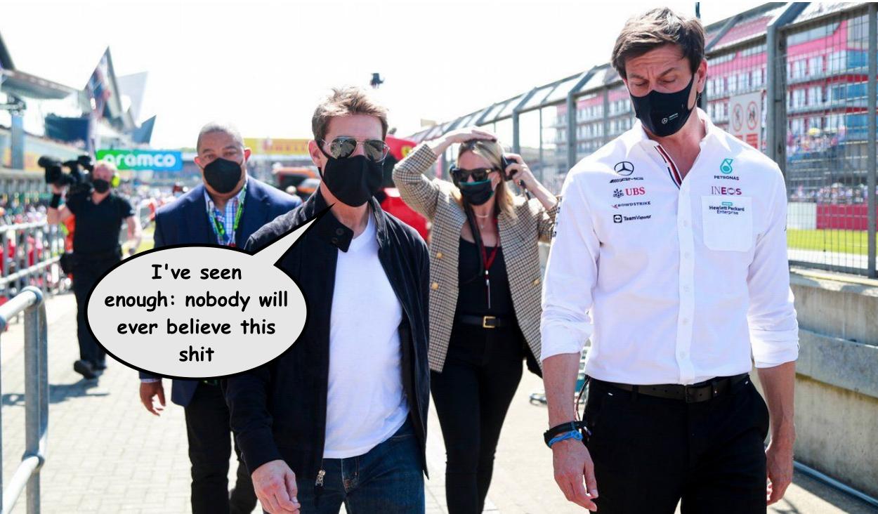 Tom Cruise British Grand Prix 2021